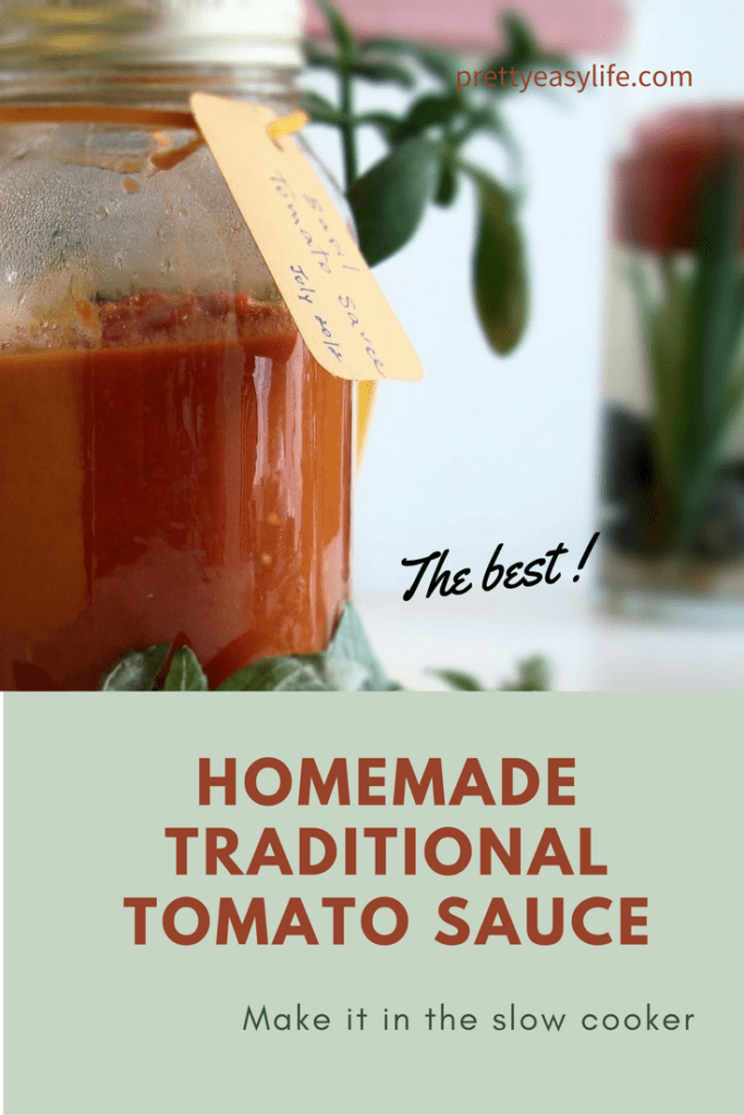Traditional home made tomato sauce