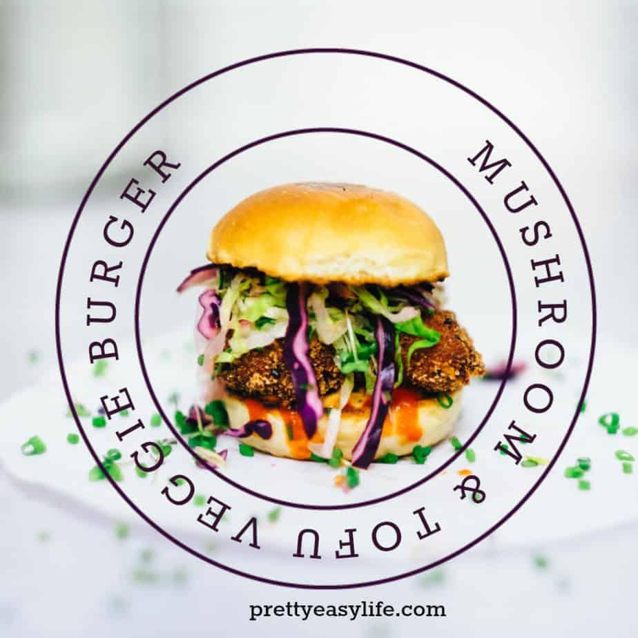 Mushroom & Tofu veggie burger