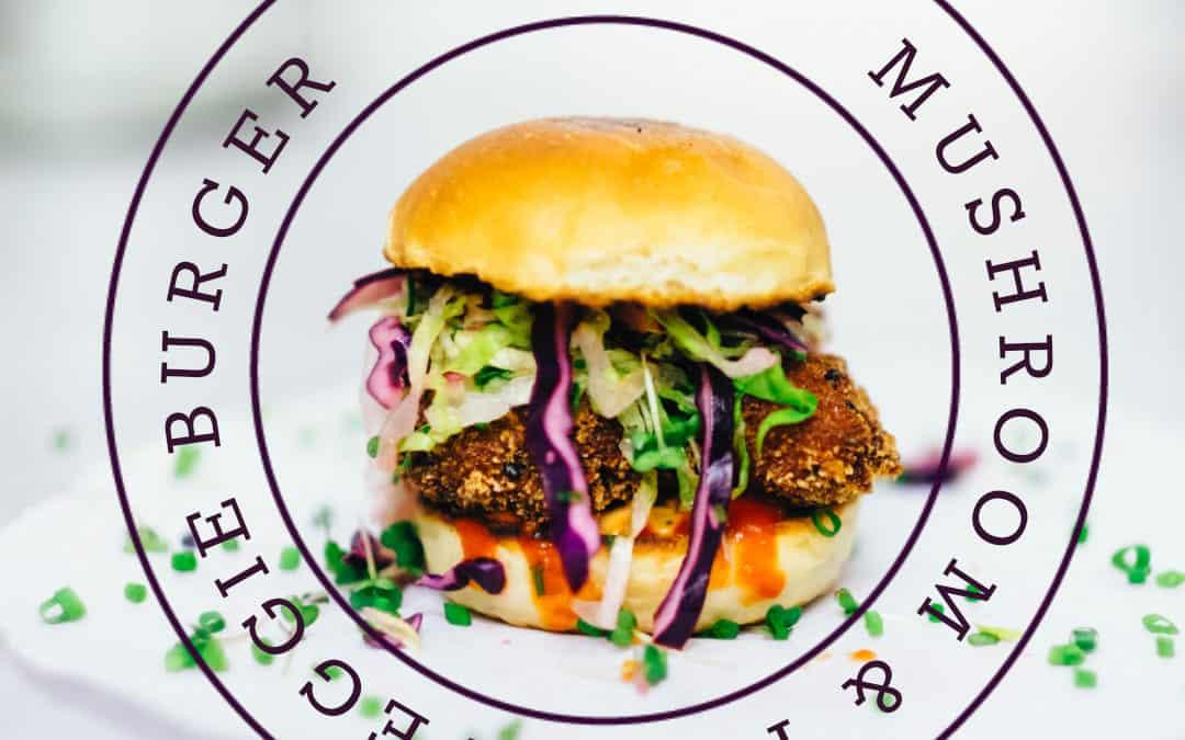 Mushrooms and tofu veggie burgers