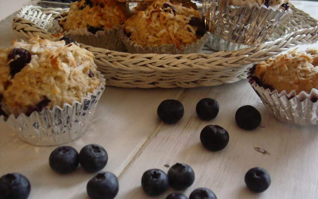 Coconut and blueberry healthy muffin