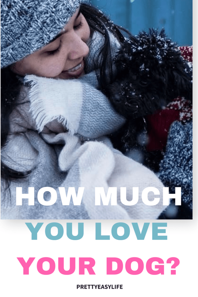 how much you love your dog