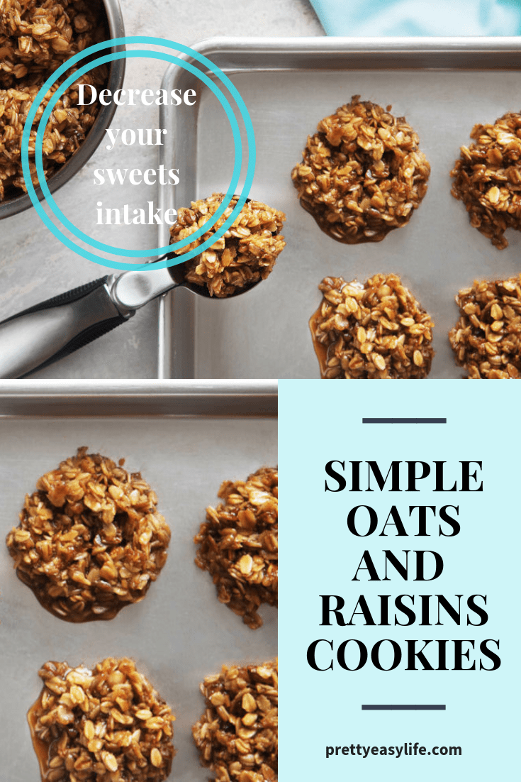 Simple Oats and Raisins cookies