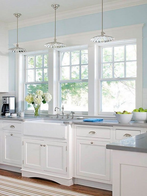 Blue And White Kitchen Ideas Part - 41: Contemporary White Kitchen Ideas