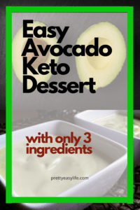 Avocado Keto dessert cream