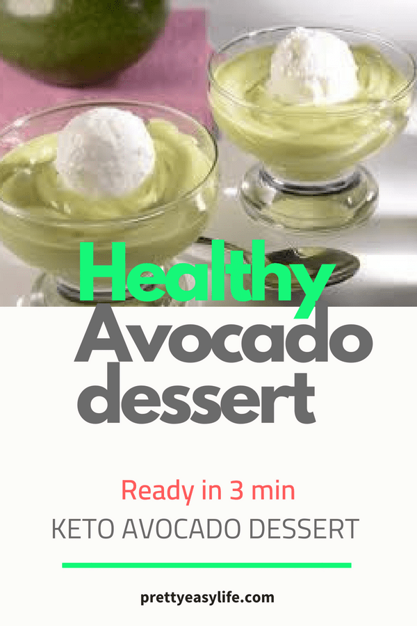 healthy avocado dessert
