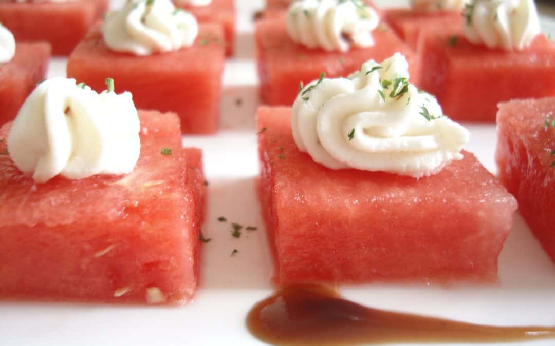 Watermelon and Goat Cheese Bites – Healthy Appetizer