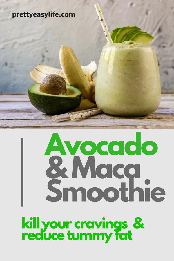 avocado and maca powder smoothie