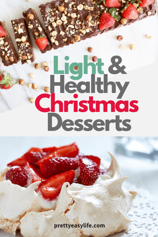 Light and Healthy Christmas desserts