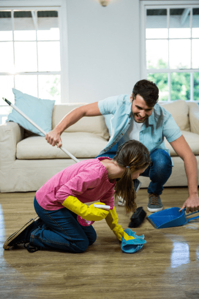 tips on how to get your house clean when you have kids