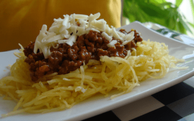 Cincinnati Style Chili on a bed of Spaghetti Squash