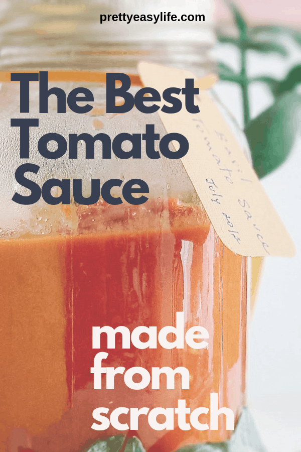 tomato sauce made from scratch