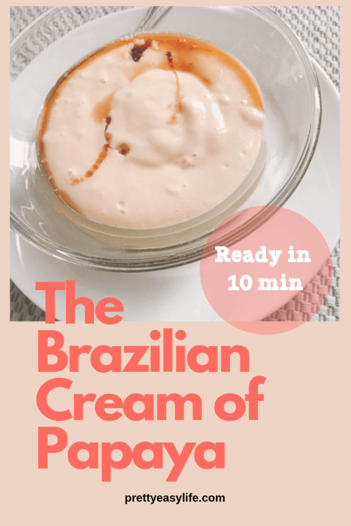 Papaya Cream - 2 ingredients, ready in 10 min