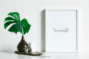 Namaste gray - wall art
