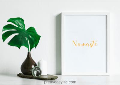 Namaste-wall-art-yellow