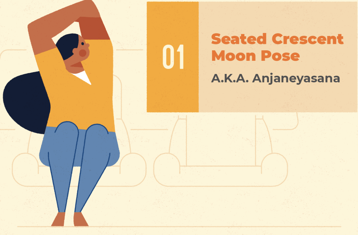 Yoga Car Pose - Seated Crescent Moon as a car stretch