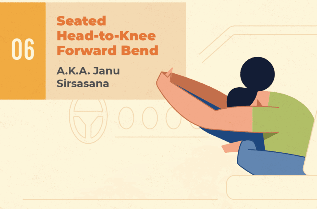 Seated Head to Knee Forward Bend - car sitting pose help sitting in the car
